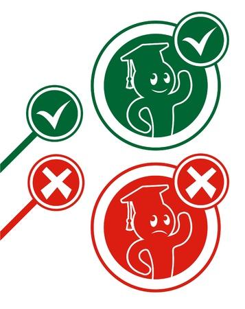 Student symbols Vector