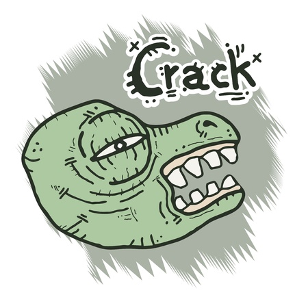 Monster crack face Vector