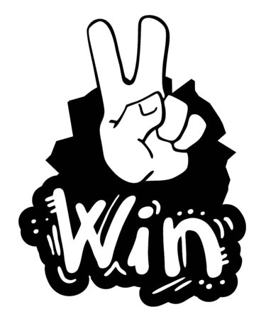 Win hand symbol Stock Vector - 15291171