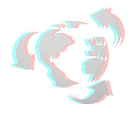 dimensinal: World recycle art icon Illustration