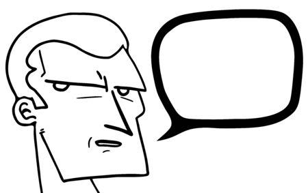talkative: Face cartoon