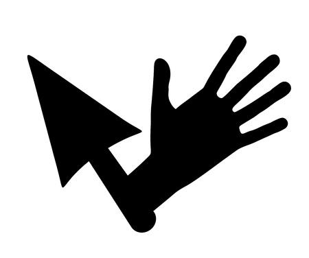 Hand cursor Stock Vector - 15340174
