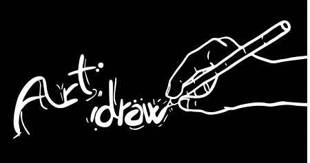Art draw dak background Stock Vector - 15340255