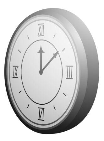 object complement: Elegant clock