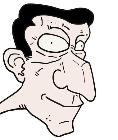 Ugly face man Stock Vector - 15340274