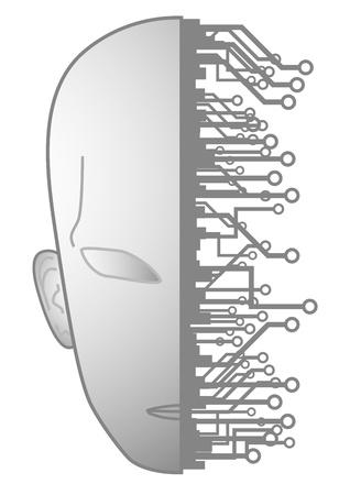 Tech future human Stock Vector - 15340262