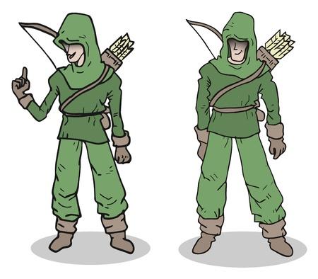 outlaws: Cartoon forest man