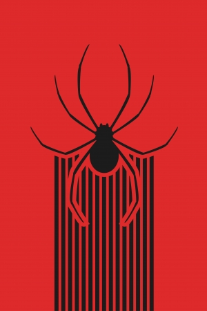 Red spider background Vector
