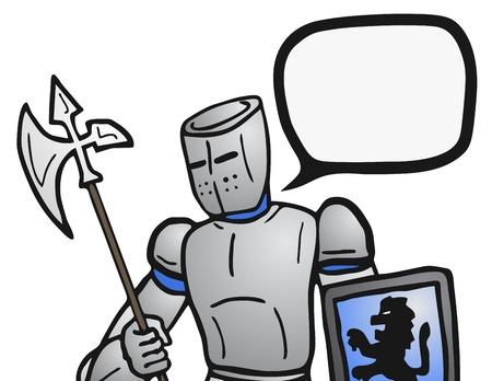 talker: Medieval man