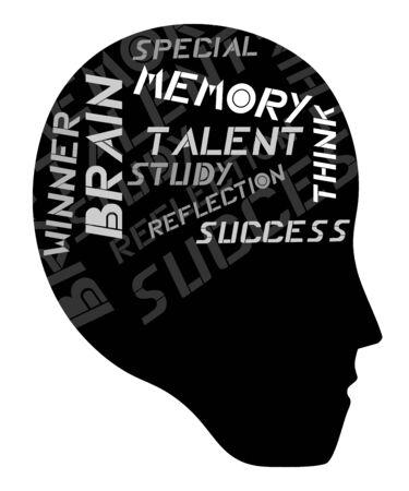 Talent brain human Stock Vector - 15340207