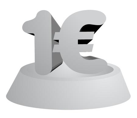 One euro Stock Vector - 15340216