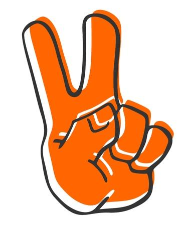 simbolo della pace: Vincitore mano Vettoriali