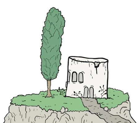 abandonment: Tree cartoon