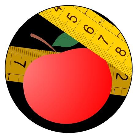centimetre: Diet apple Illustration