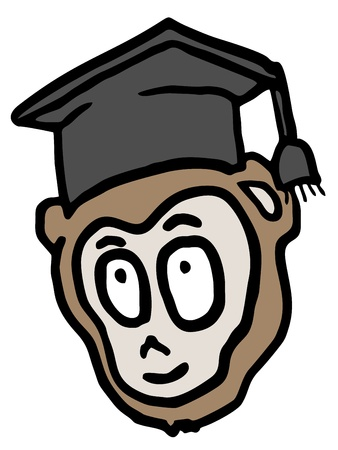 Funny education face Vector