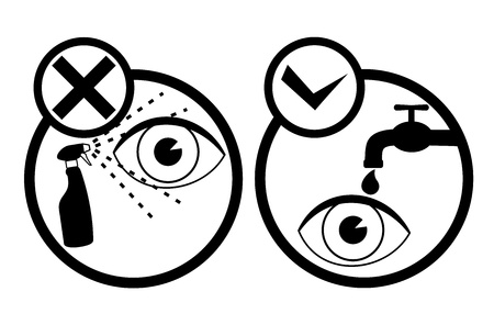 Danger eye symbol