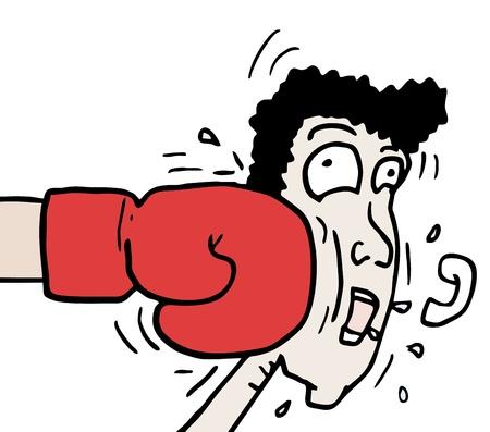 Punch cartoon Vektorové ilustrace