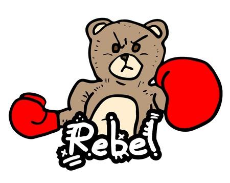 untamed: Rebel boxeo oso Vectores