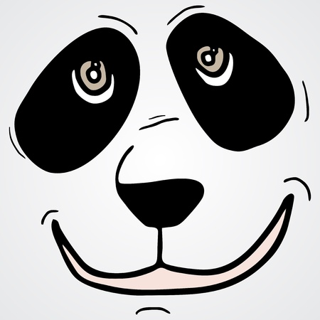Bear mask smile Vector
