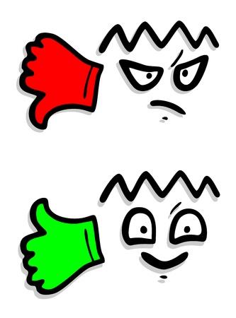 falso: Manos arriba y abajo