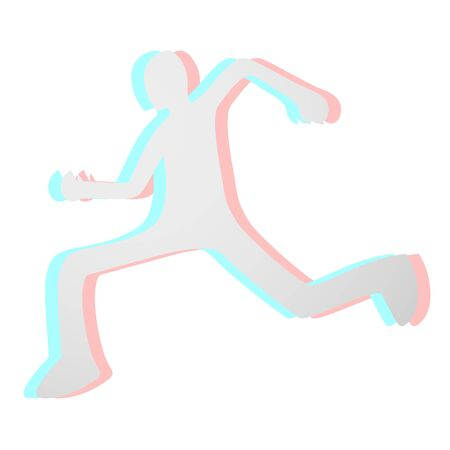 Run visual effect Stock Vector - 15600317
