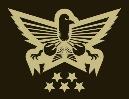 Military eagle emblem Stock Vector - 15694125