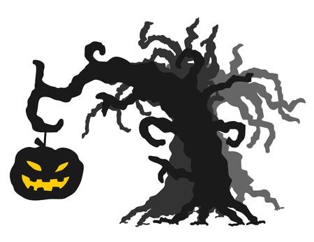 lighted: Halloween tree