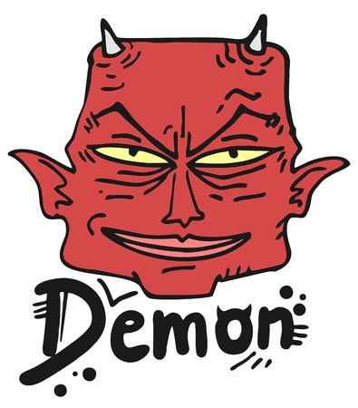 Red demon Vector