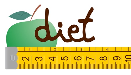 Apple diet Stock Vector - 15694179
