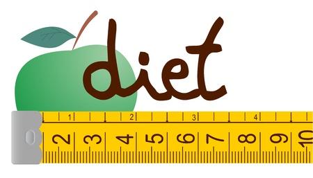 centimetre: Apple diet Illustration