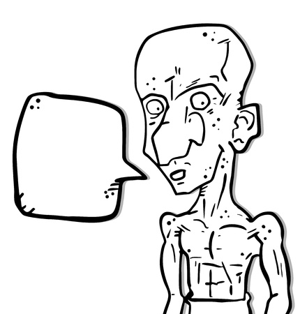 greybeard: Cartoon parlare Vettoriali