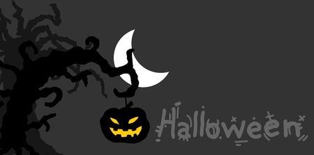 Night halloween card Vector