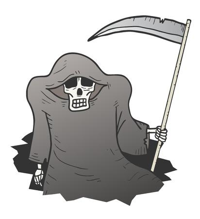 Halloween hole monster Ilustração