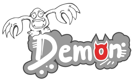 Demon sticker Stock Vector - 15694143