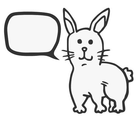 expressive style: Rabbit talking