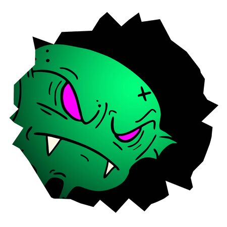 Monster halloween hole Stock Vector - 15744146