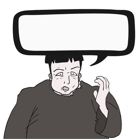 talkative: Comic man talking