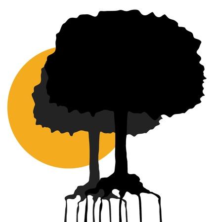 Sun tree Stock Vector - 15744131