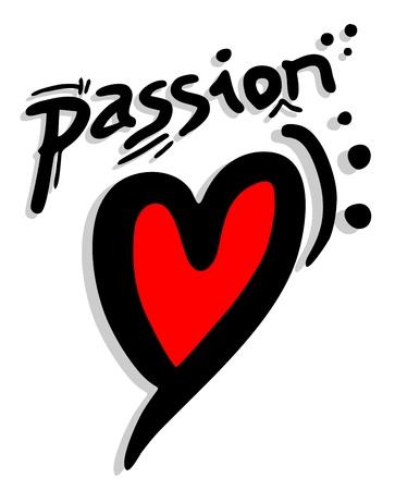 Pasión corazón Ilustración de vector