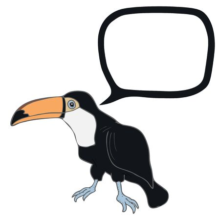 tucan: Tucan talking Illustration