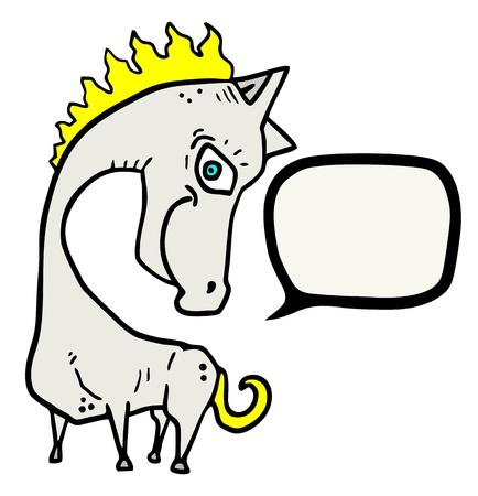 talkative: Funny horse