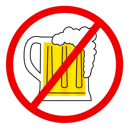 No beer Vector