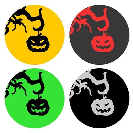 Halloween circle icons Stock Vector - 15885119