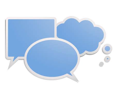 Blue comic symbols Stock Vector - 15885036