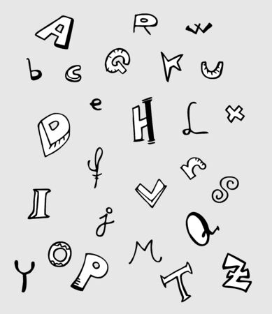 penman: Alphabet cartoon art design