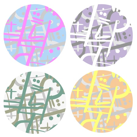 Four fashion buttons Stock Vector - 15885137