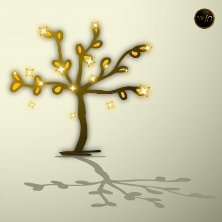 possession: Golden tree Illustration