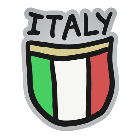 Cartoon Italia emblema