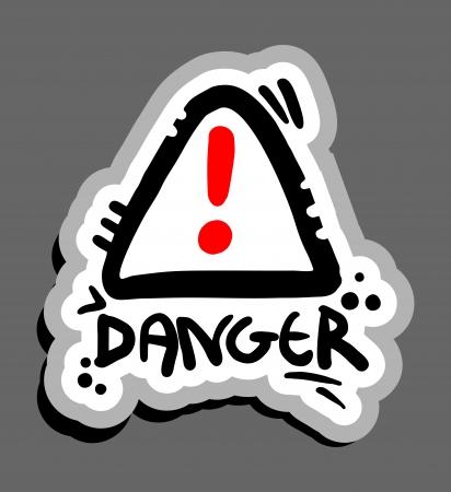 Danger cartoon sign Stock Vector - 15885006