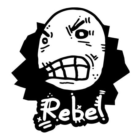 annoyance: Rebel face doll